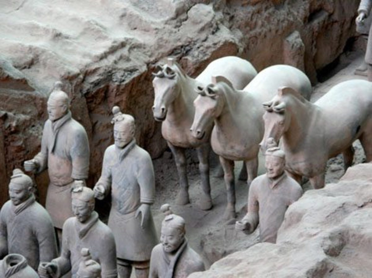 Ancient Army China Statues