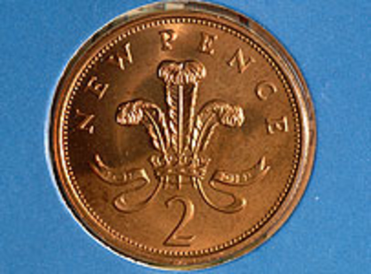 New 1976 Pence Price Vallue