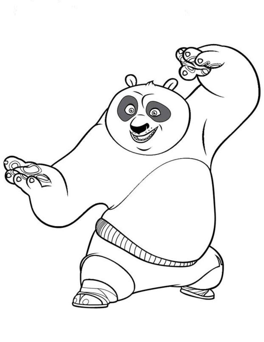 Printable Cartoon Panda