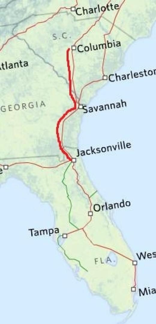 Map Of Florida Highways.Amtrak Florida Routes Routes Map Florida