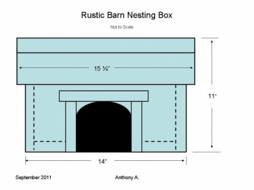 Cardinal Building Nesting Box