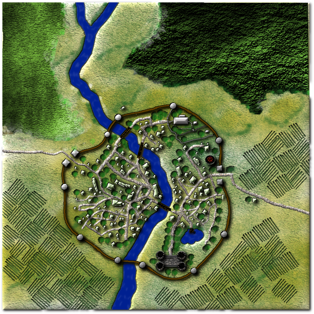 Creating Fantasy City Maps for Roleplaying Games With GIMP 2 8     Creating a Map from Scratch