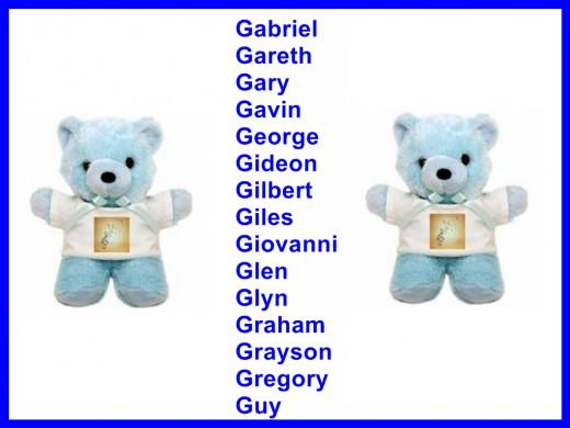 Begin G Names Last