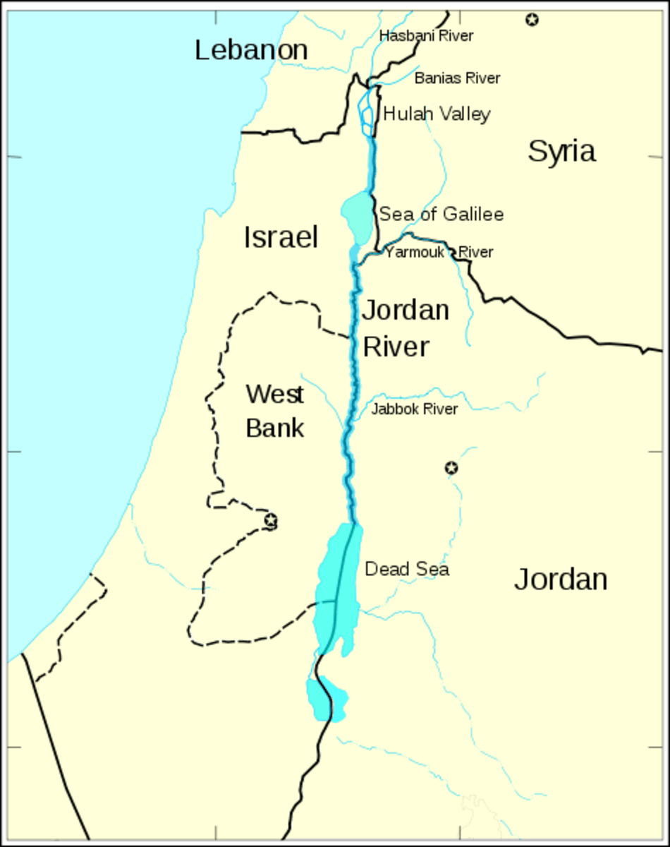 River Map Jordan Tributaries