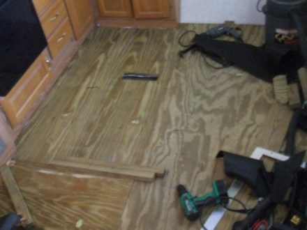 How to Repair or Replace RV   Camper Trailer Floors   AxleAddict Ready for the floor covering