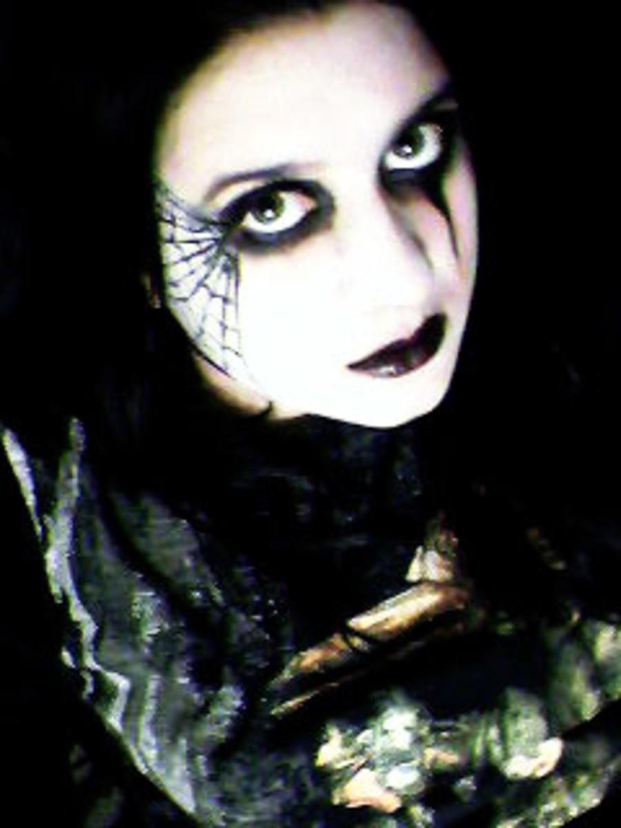 Gothic Spider Web Makeup