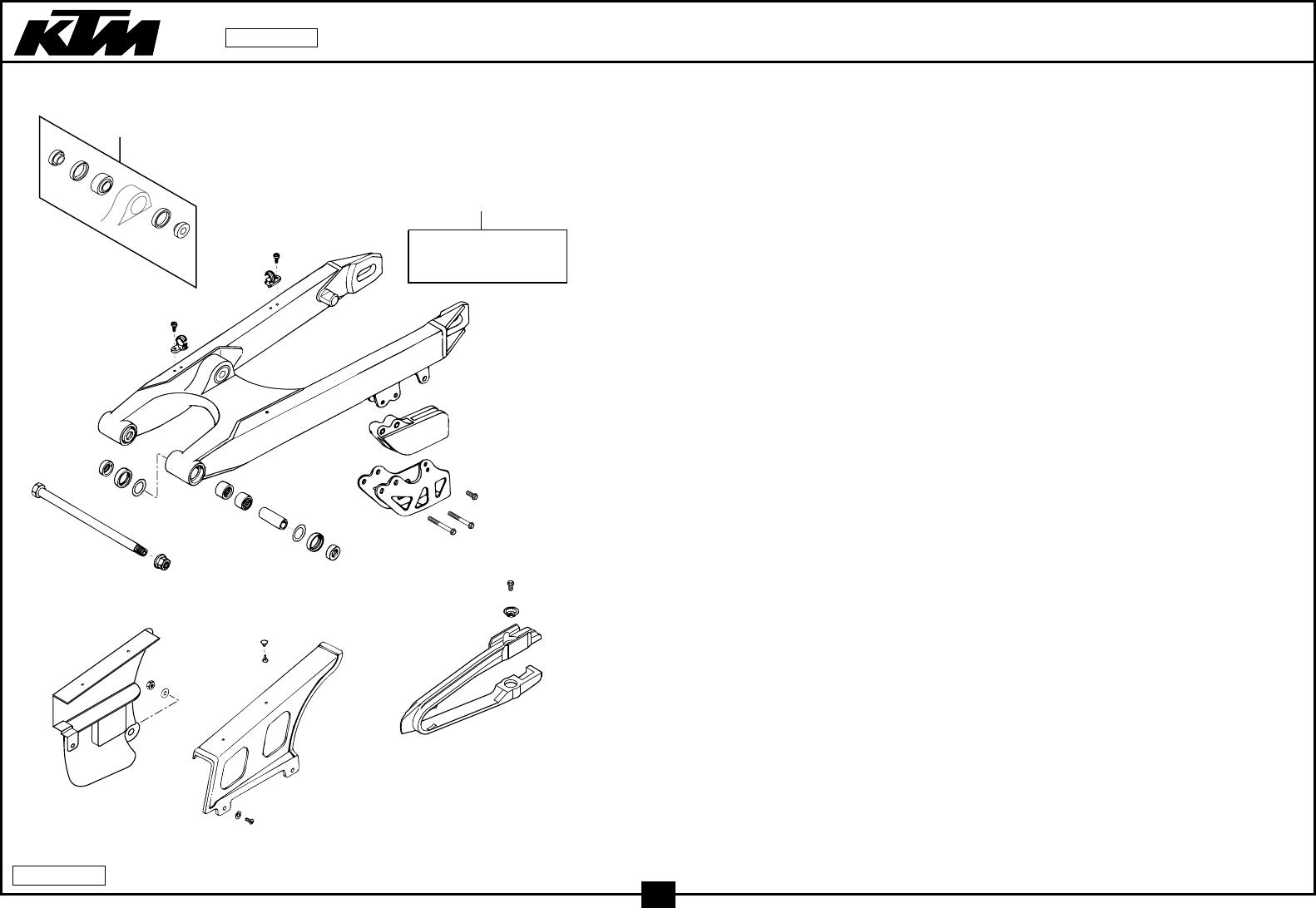 Schwingarm kettenschutz swingarm chain guard 125 380 '99