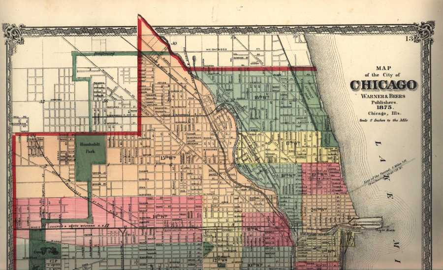 The USGenWeb Archives Digital Map Library   Illinois Maps Index  Chicago 1