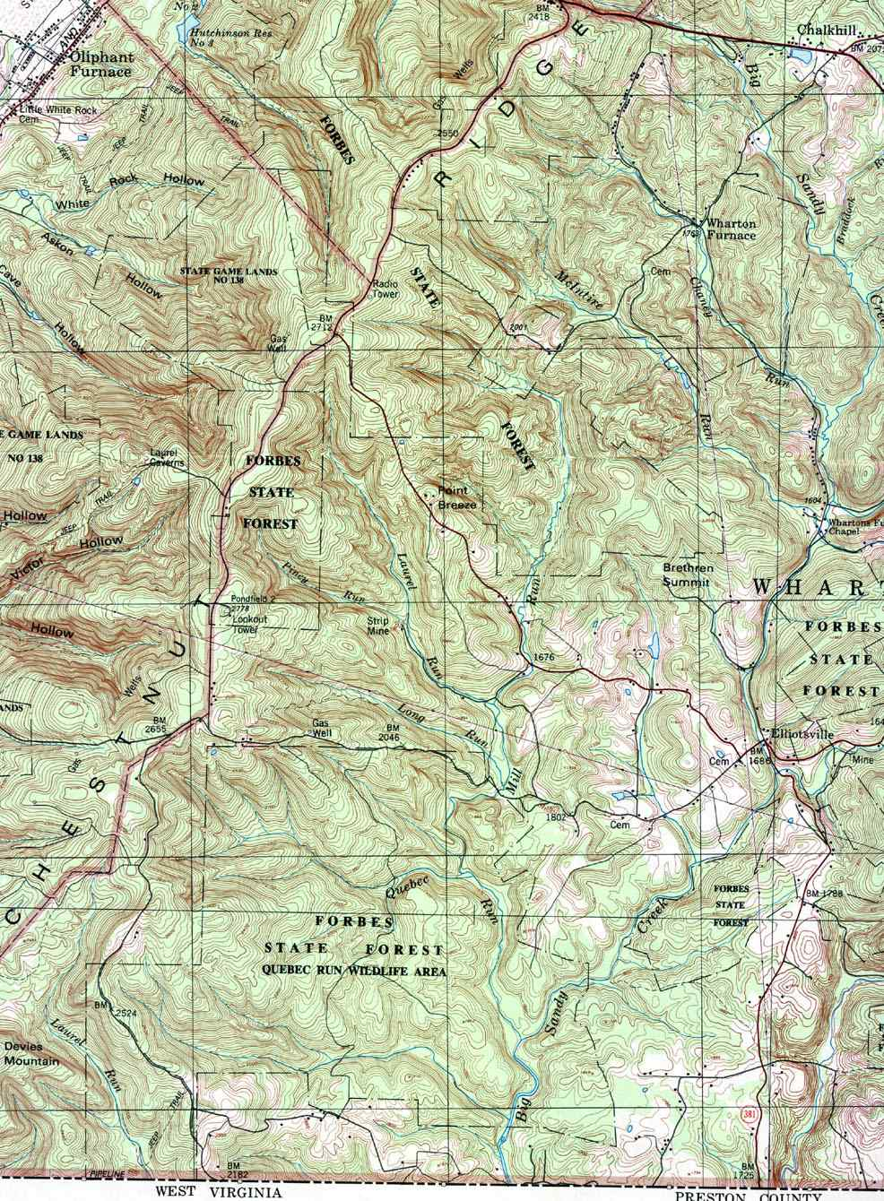 Mt Oliver Pa Map