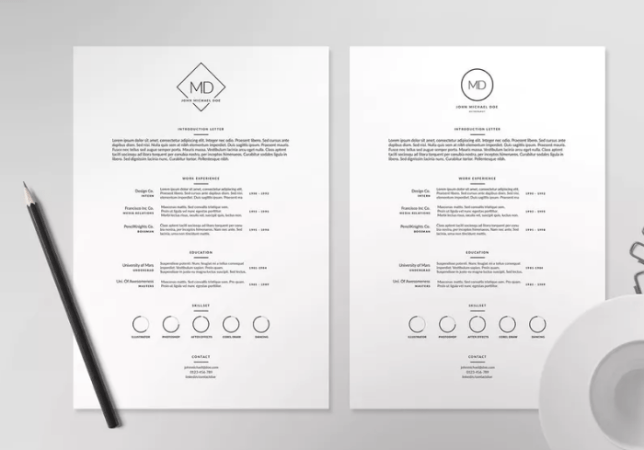 50  Awesome Resume   CV Templates for 2018   UTemplates A4 Print Ready Resume   CV Template