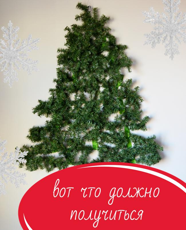 Cómo hacer un árbol de Navidad en la pared con tus propias manos (clase magistral)