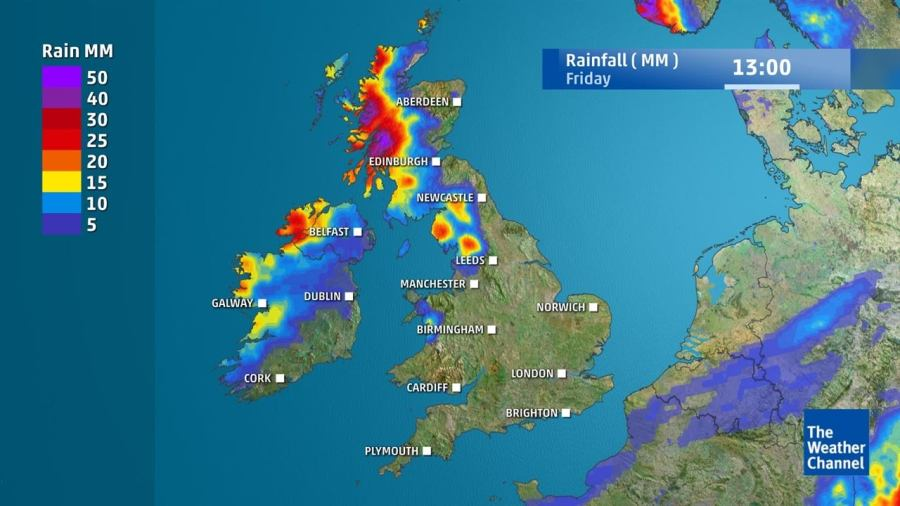 WATCH  Detailed forecast for the UK and Ireland from September 12     WATCH  How much rain is predicted this week