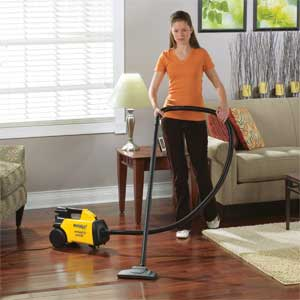 Using the Eureka Mighty Mite Canister Vacuum on Hardwood Floor