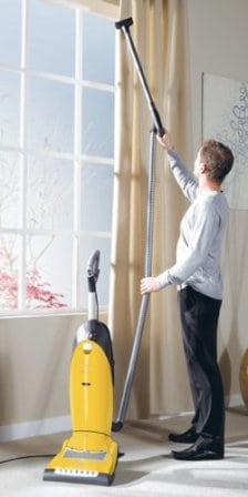 Cleaning Curtains with Miele Vacuum