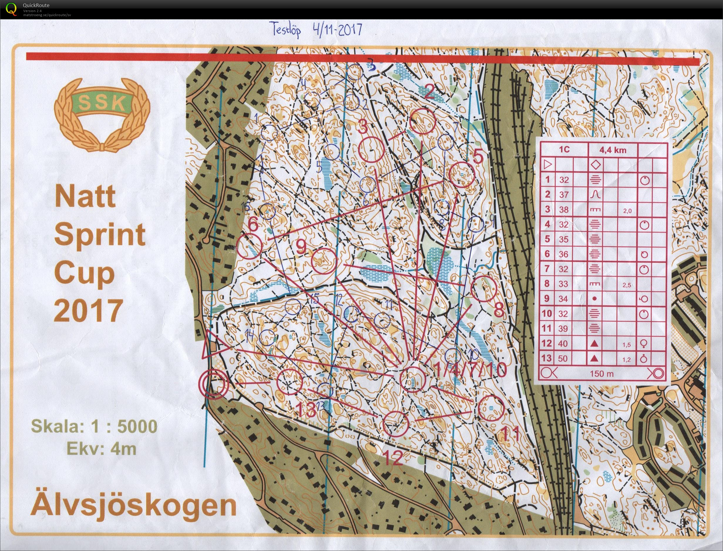 Kort testl    p     lvsj    skogen   November 4th 2017   Orienteering Map     View map without route