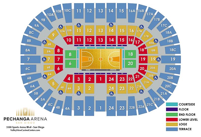 Basketball Warriors Seating Chart