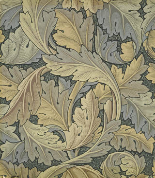 V A      William Morris and wallpaper design Acanthus wallpaper  designed by William Morris  manufactured by Jeffrey    Co   1875  England  Museum no  E 800 1915       Victoria and Albert Museum   London