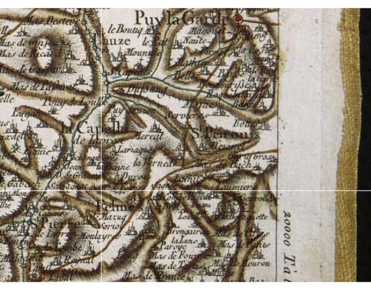 The Cassini Map of France   Life on La Lune Section from Cassini Map