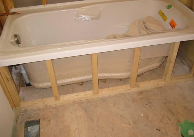 ติดตั้งชั้นวางใต้อ่างอาบน้ำ