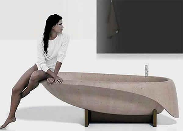콘크리트 목욕 : 세련된 디자인