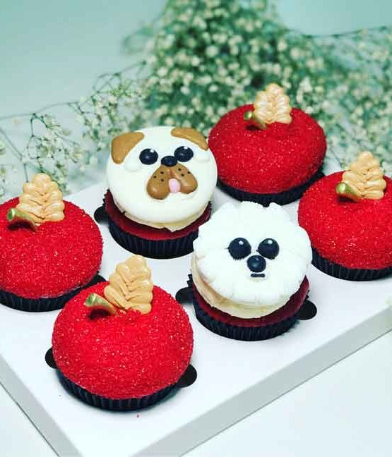 Cupcakes   Cakes Sydney Delivery   chinese new year cupcakes Dog year Prosperity Dog  Chinese New Year