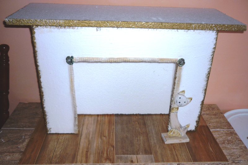 make a decorative fireplace with your own hands