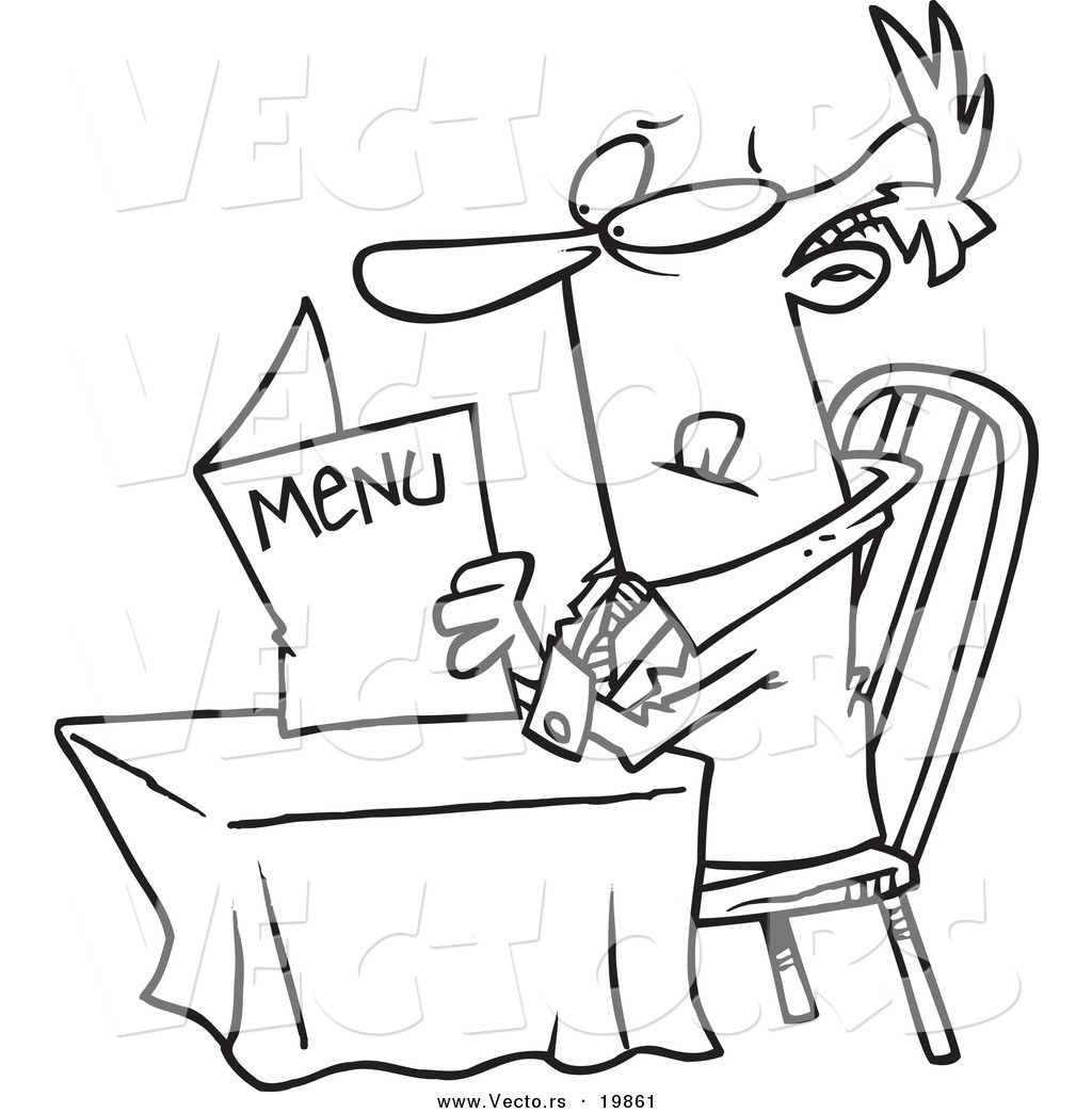 Restaurant Menus Coloring