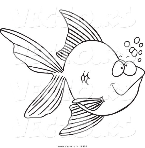 goldfish coloring page # 68