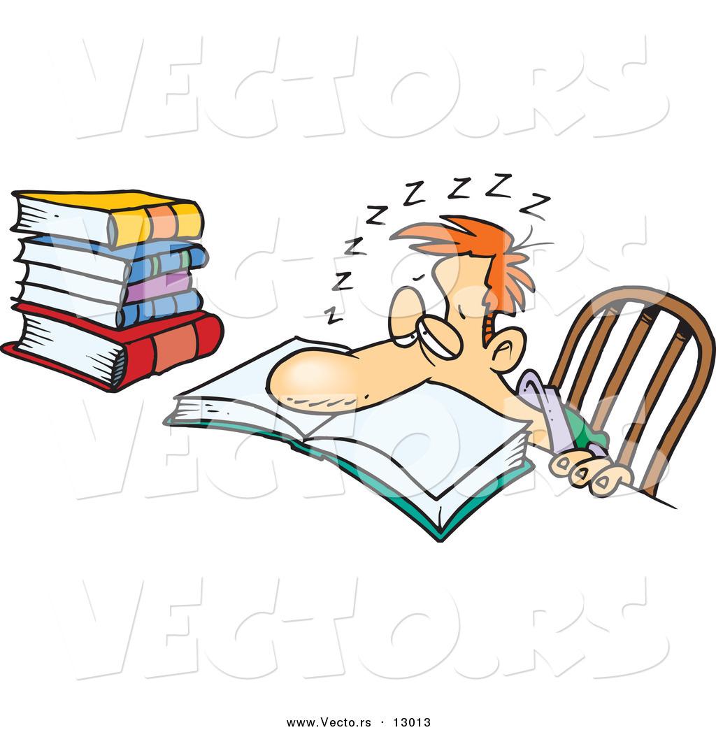 Student Asleep Clip Art