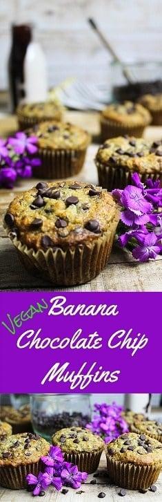 Vegan Banana Chocolate Chip Muffins