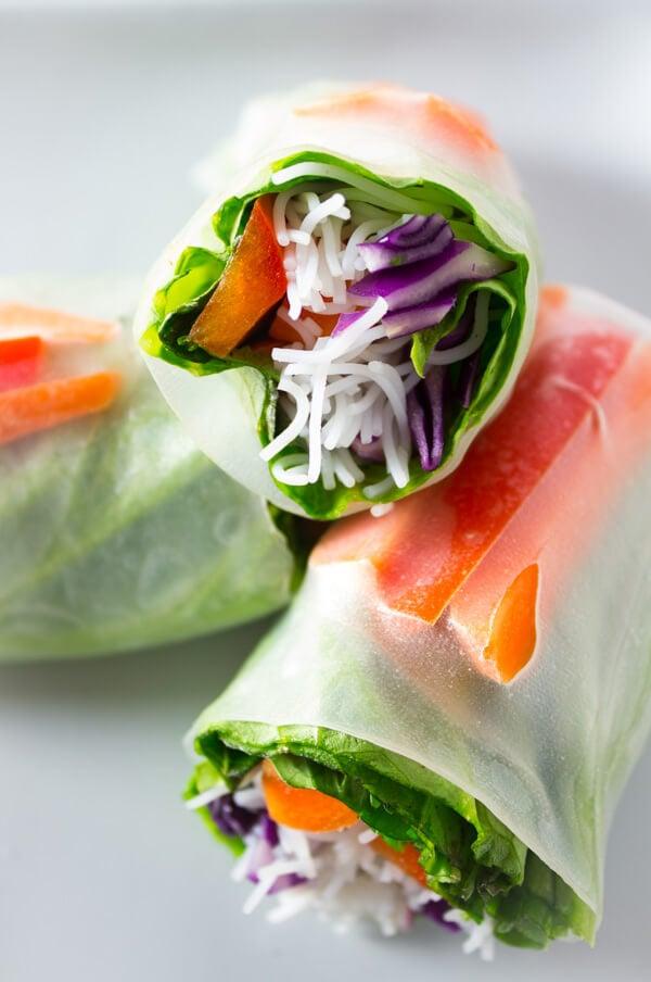 Easy Vegan Dinner Recipes - spring rolls
