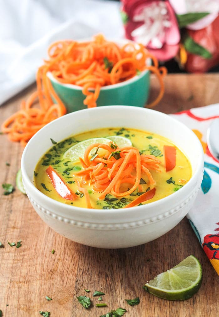 Easy Vegan Dinner Recipes - Coconut Curry Soup