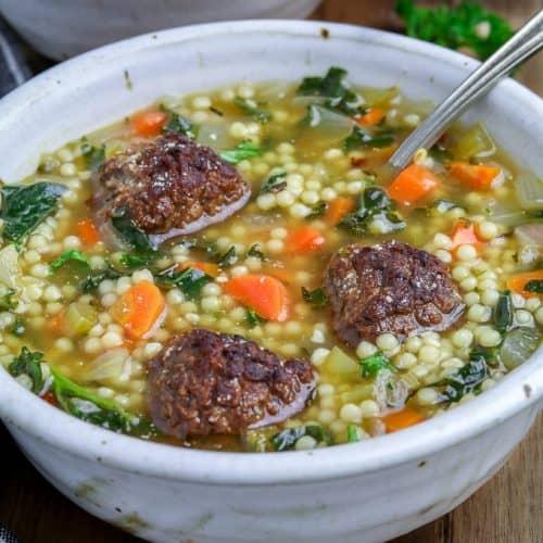 Vegan Italian Wedding Soup A Classic Vegan Huggs