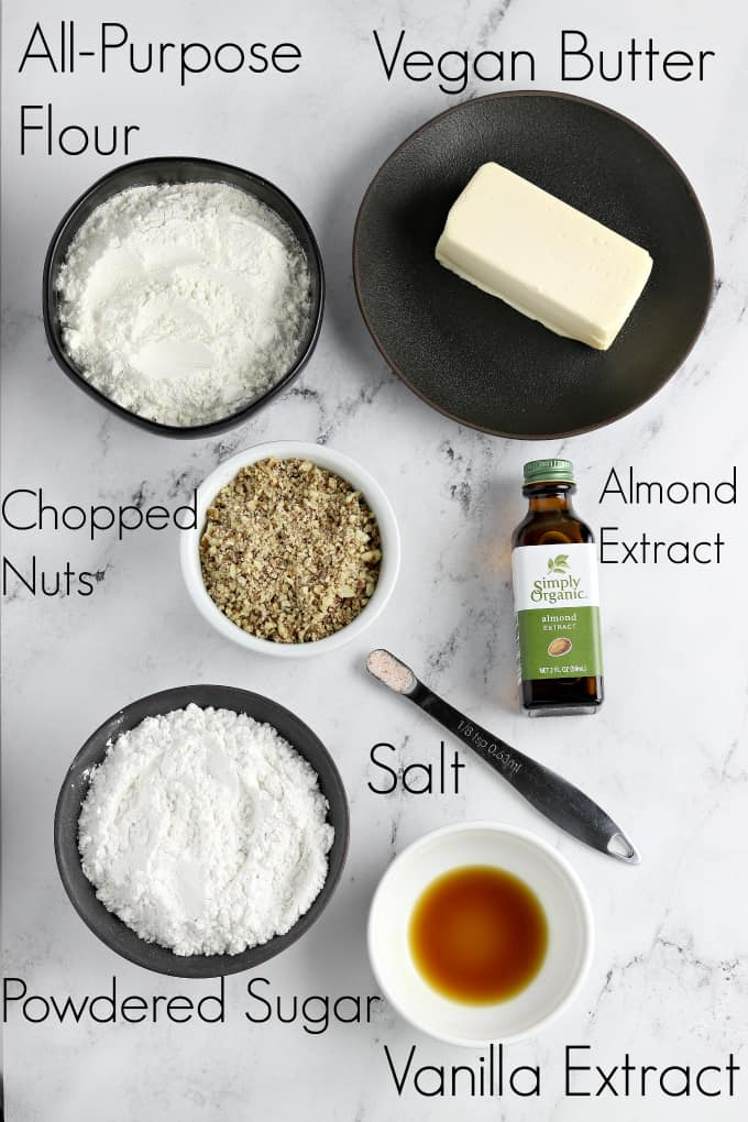 Ingredients for cookies on a marble table top.