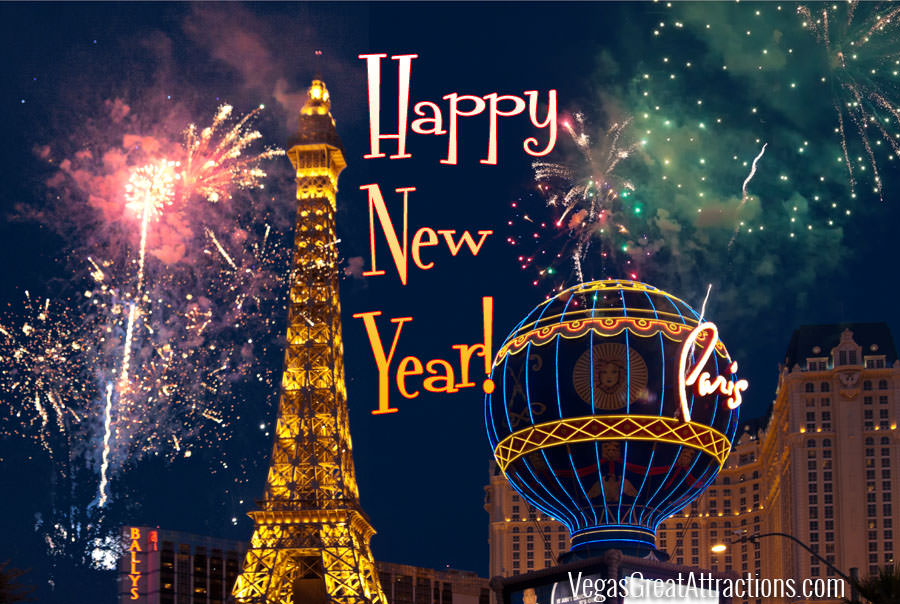 Las Vegas New Years Eve 2016   Vegas Attractions Las Vegas Happy New Year card