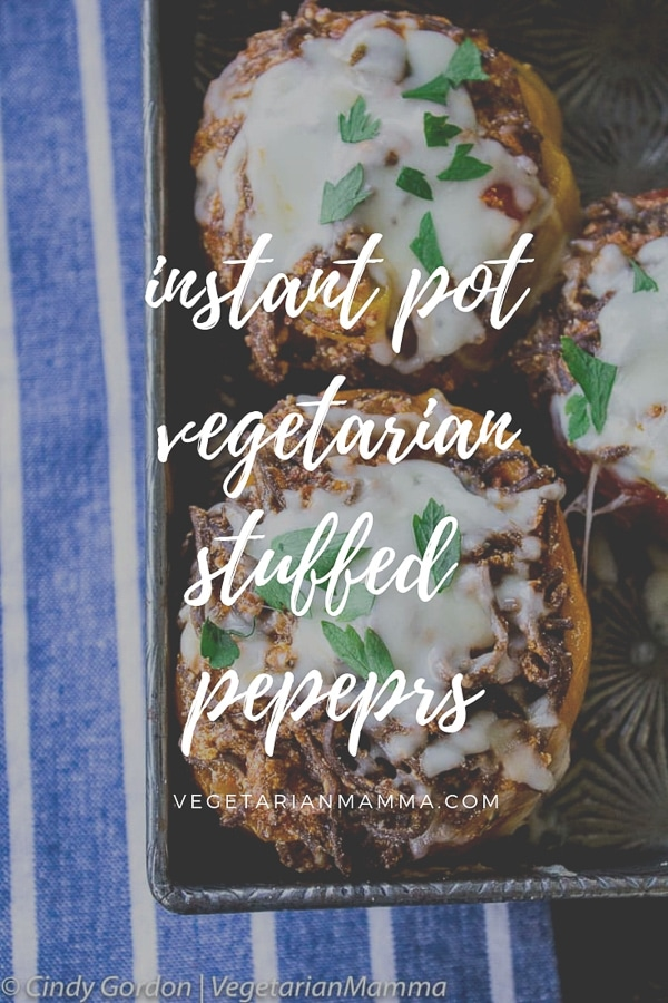 Instant Pot Stuffed Peppers - A Vegetarian Instant Pot Recipe