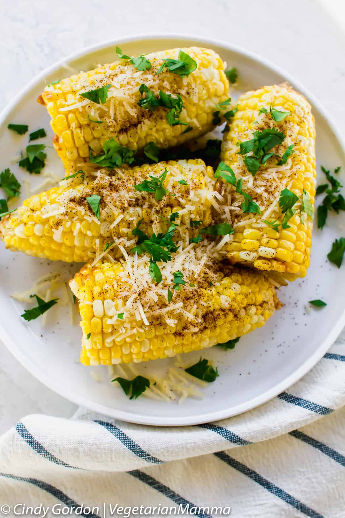 Air Fried Mexican Street corn, made in the air fryer.