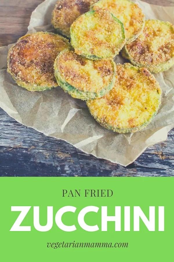 gluten free pan fried zucchini recipe pin