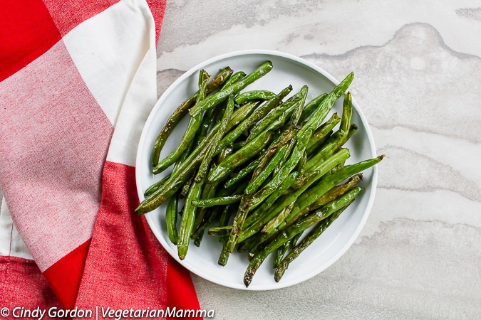 Air Fryer Green Beans are a delicious vegetarian side dish.