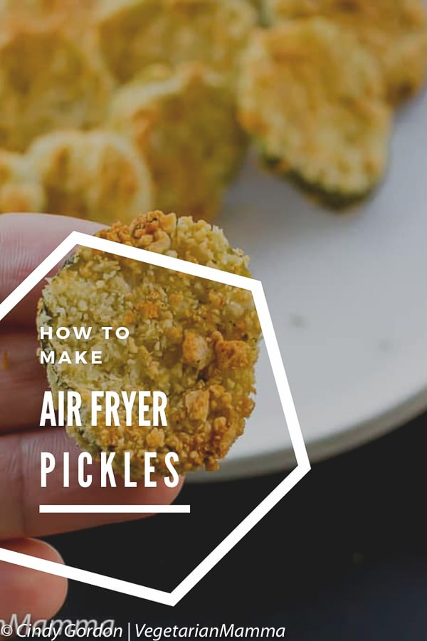 Are you craving a delicious crispy fried pickle chip? These air fryer fried pickles recipe is extremely easy to make. #airfryerpickles #airfryer