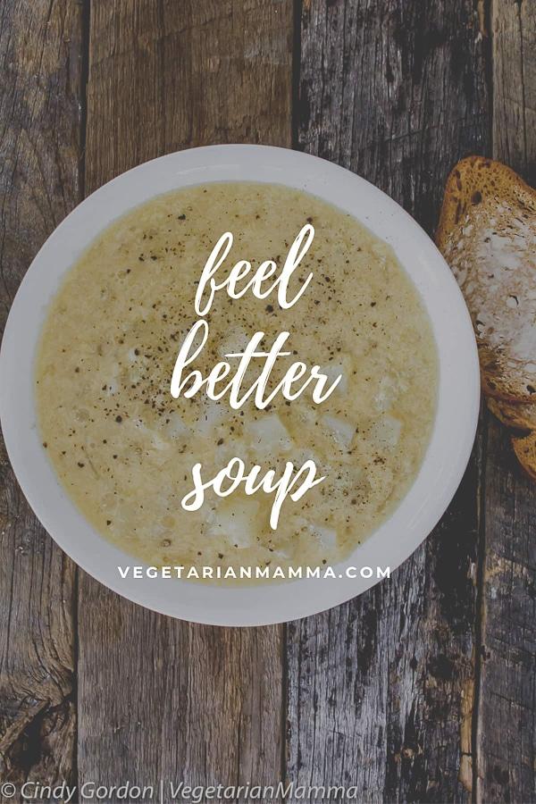 Feel Better Soup aka sick soup in a white bowl