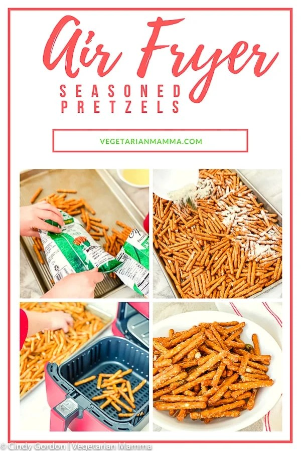 This seasoned pretzel recipe will make all snack lovers rejoice with happiness! At last, an easy seasoned pretzel recipe that will turn non-snackers into snack-a-holics when they taste these ranch pretzels. #airfryerpretzels #seasonedpretzels