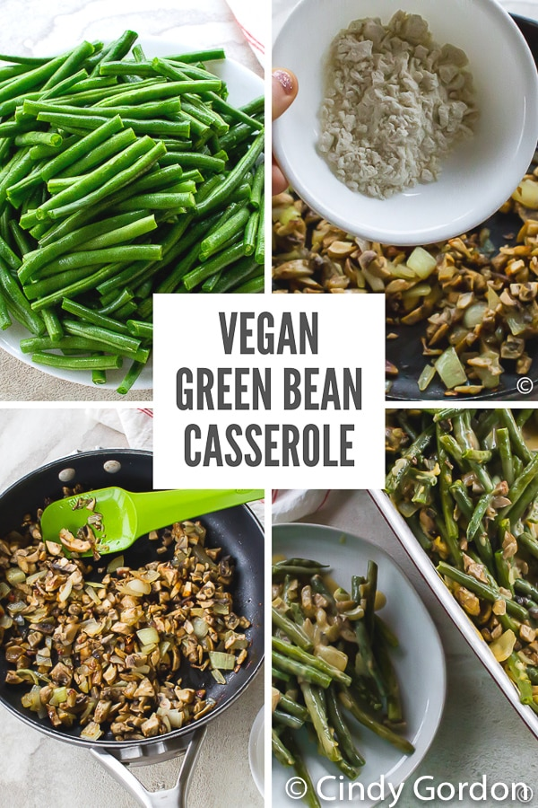 This #Vegan Green Bean #Casserole is your traditional holiday hit without the dairy! Dress it up or keep it plain for my favorite vegan side dish for every family gathering! #veganholidays #dairyfree