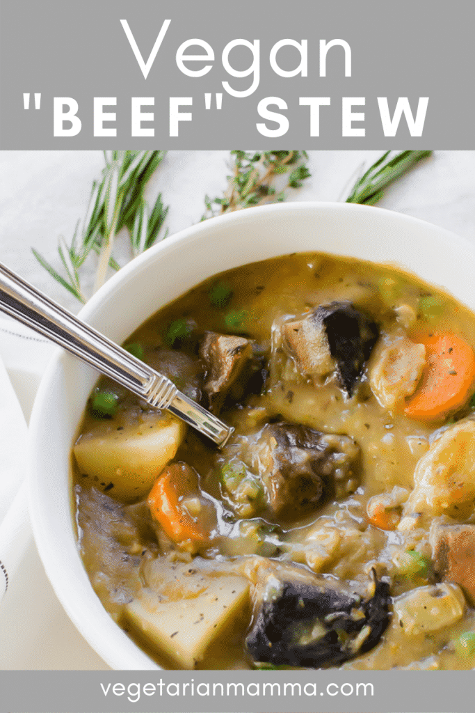 vegan beef stew pin