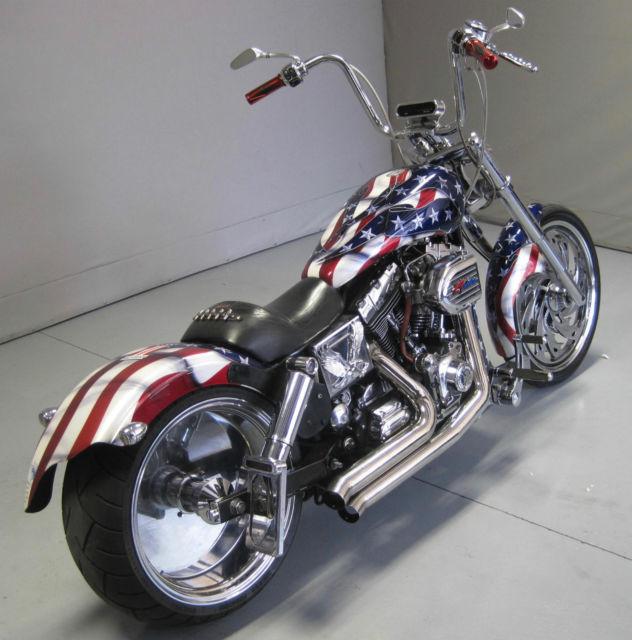 2001 Harley Davidson Fxdwg Dyna Wide Glide American Flag
