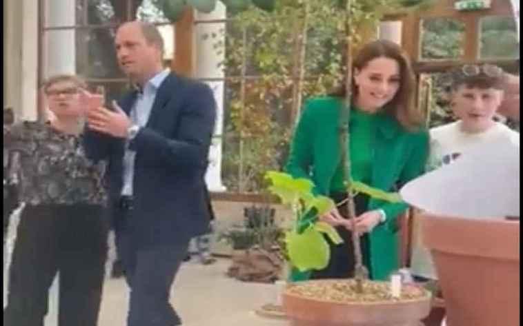 Kate Middleton e il principe William incontrano gli studenti per salvare il Pianeta