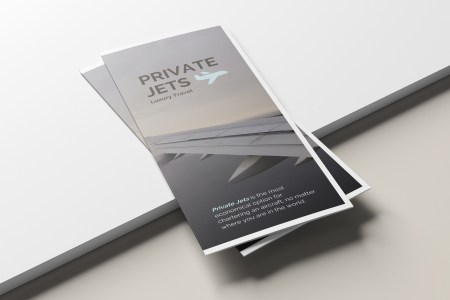 Private Jets Airline Trifold Brochure Template   Venngage Brochure     Private Jets Airline Tri Fold Brochure
