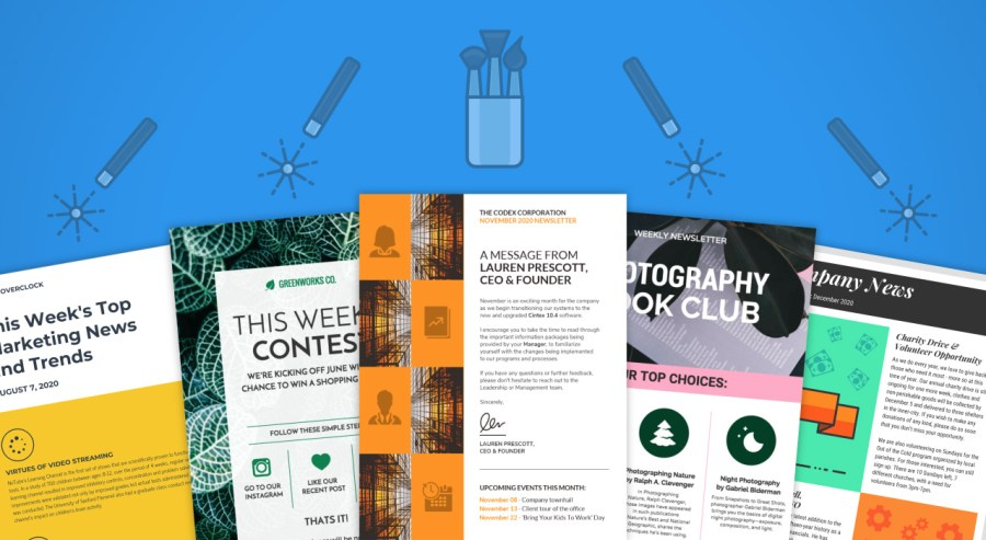 45 Engaging Email Newsletter Templates  Design Tips   Examples For     email newsletter templates