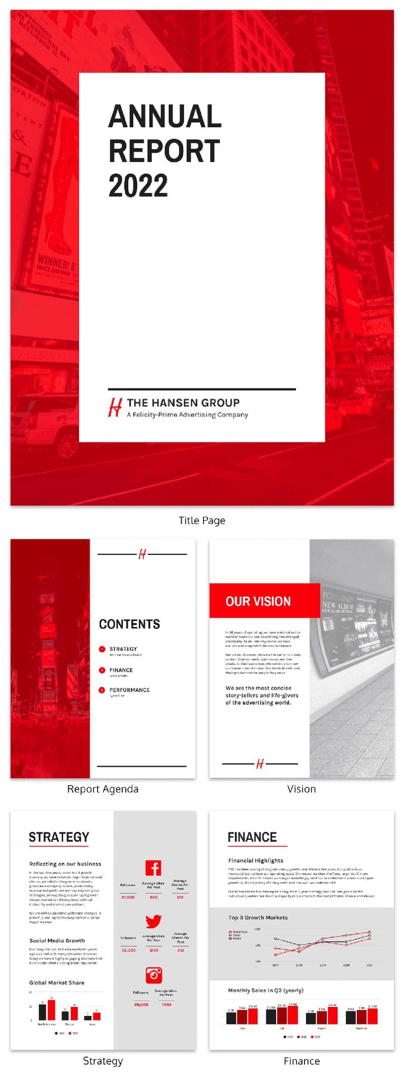 55+ Customizable Annual Report Design Templates, Examples ...