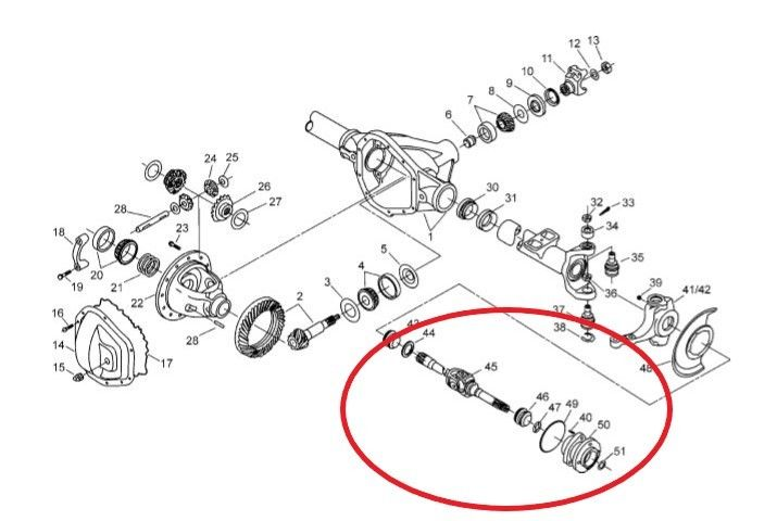 2000 F350 Front Axle Parts